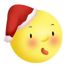 原创元素圣诞可爱月亮