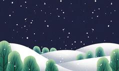 原创元素圣诞节手绘背景