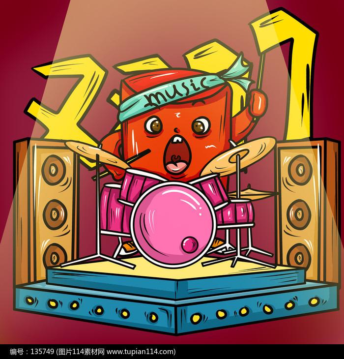 原创元素红包乐队鼓手