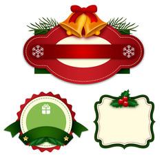 原创圣诞标签元素
