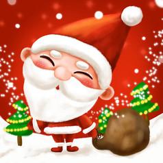 可爱的圣诞老人原创图片