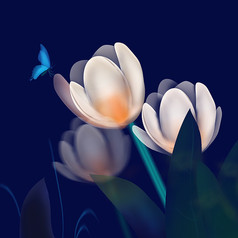 原��插��-花朵�c蝴蝶