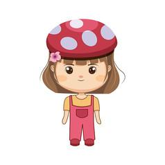 带帽子的小姑娘