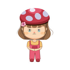 小女孩表情�D片