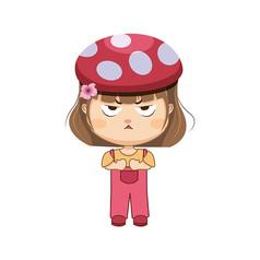 小女孩手�L卡通�D