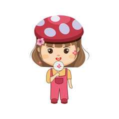 吃棒棒糖的小女孩�D片