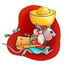 原创鼠年运财图片