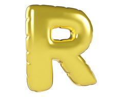 原创元素圣诞节促销气球字R