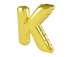 原创元素圣诞节促销气球字K