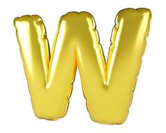 原创元素圣诞节促销气球字W