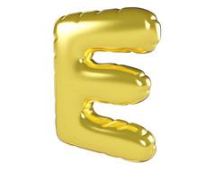 原创元素圣诞节促销气球字E
