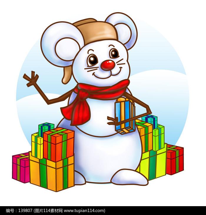 原��新年小鼠雪人