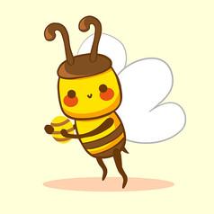 原��元素抱著蜂蜜的小蜜蜂