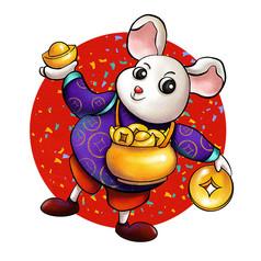 原创新年聚宝盆鼠
