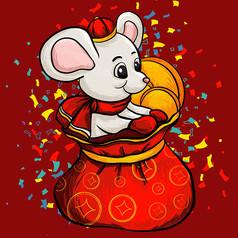 原创新年财富鼠