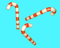 原创元素圣诞拐杖