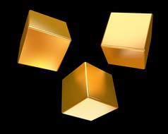 原创元素黄金块