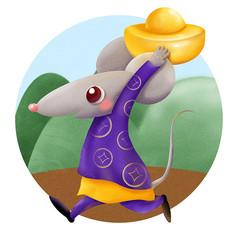 原��鼠年抱金��
