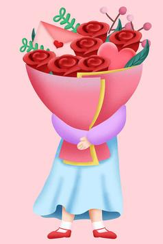 原��元素情人�女孩捧花