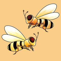 原创元素蜜蜂