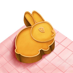 原创中秋兔子月饼